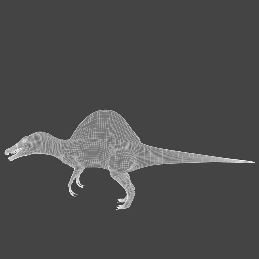 Spinosaurus - rigged royalty-free 3d model - Preview no. 4