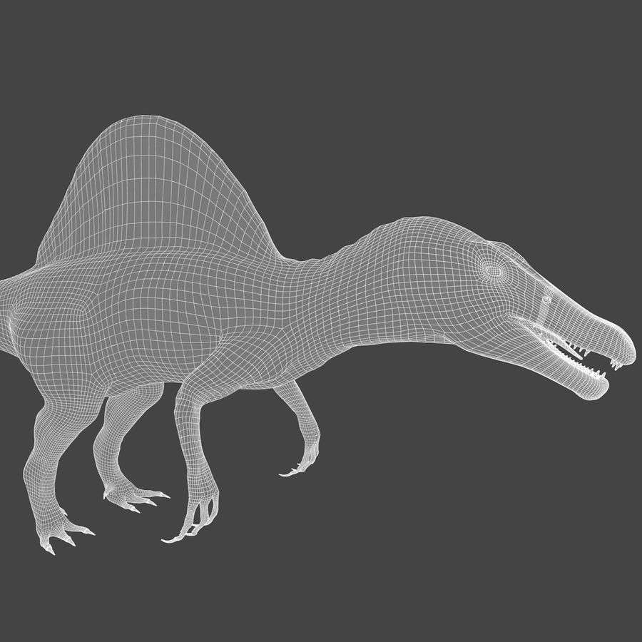 Spinosaurus - rigged royalty-free 3d model - Preview no. 6