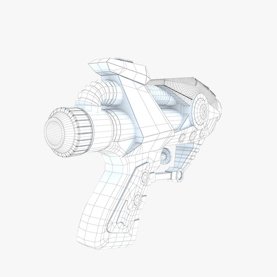 Toy Water Gun royalty-free 3d model - Preview no. 11