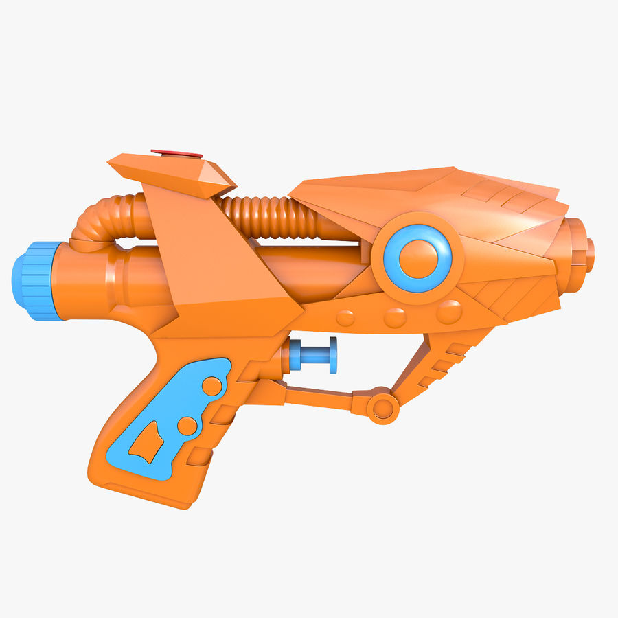 Toy Water Gun royalty-free 3d model - Preview no. 1