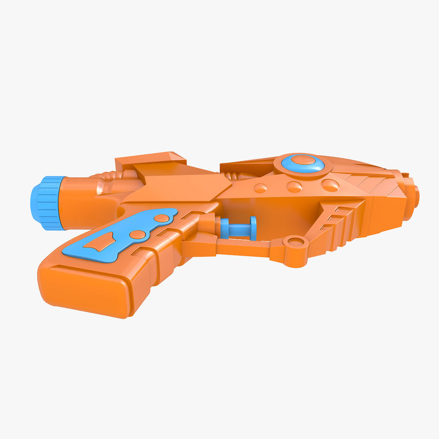 Toy Water Gun royalty-free 3d model - Preview no. 5