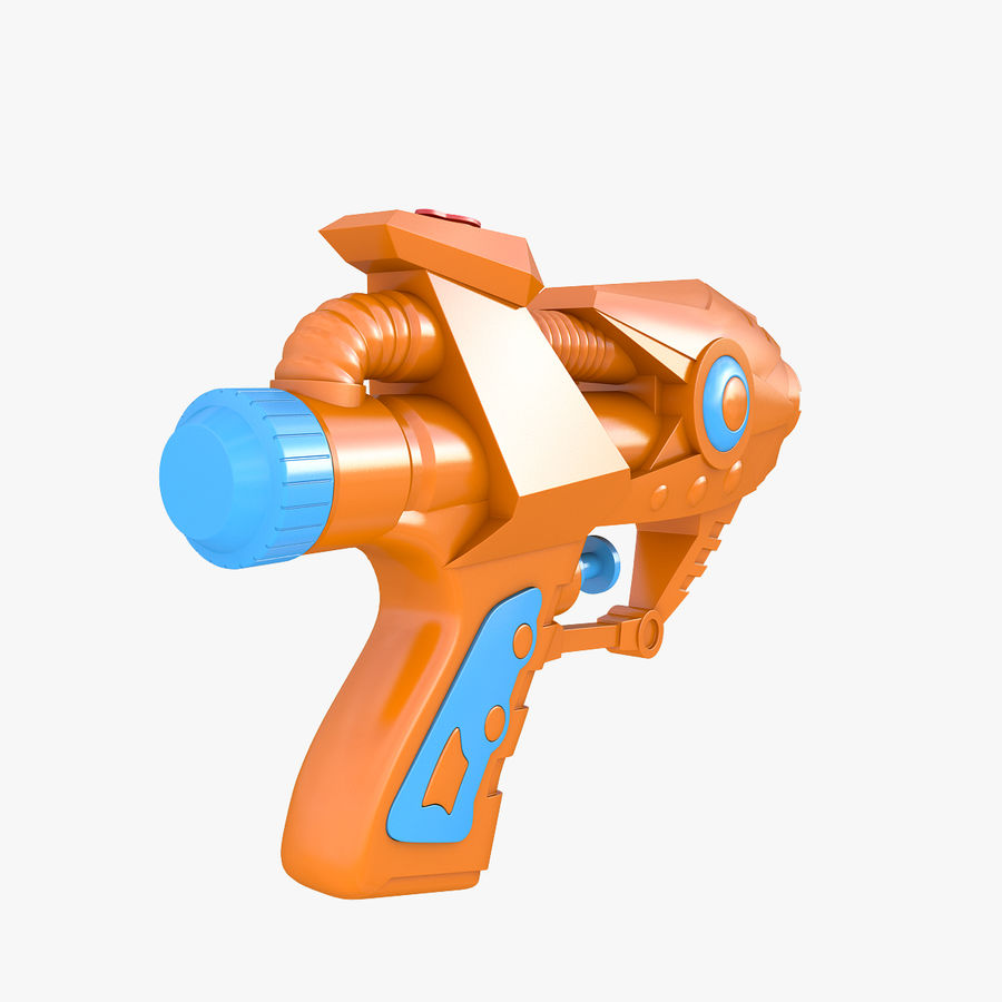 Toy Water Gun royalty-free 3d model - Preview no. 3