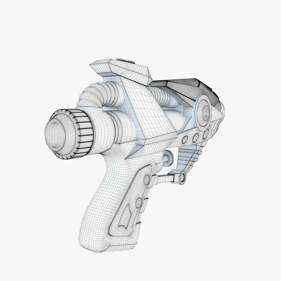 Toy Water Gun royalty-free 3d model - Preview no. 10