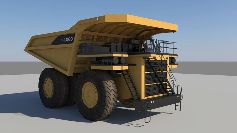 haul truck royalty-free 3d model - Preview no. 3