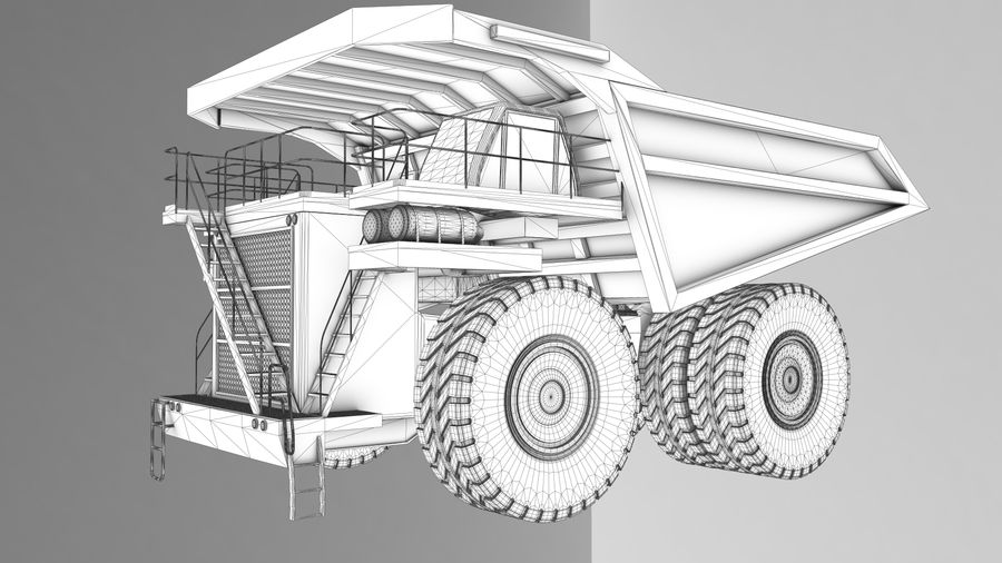 haul truck royalty-free 3d model - Preview no. 7