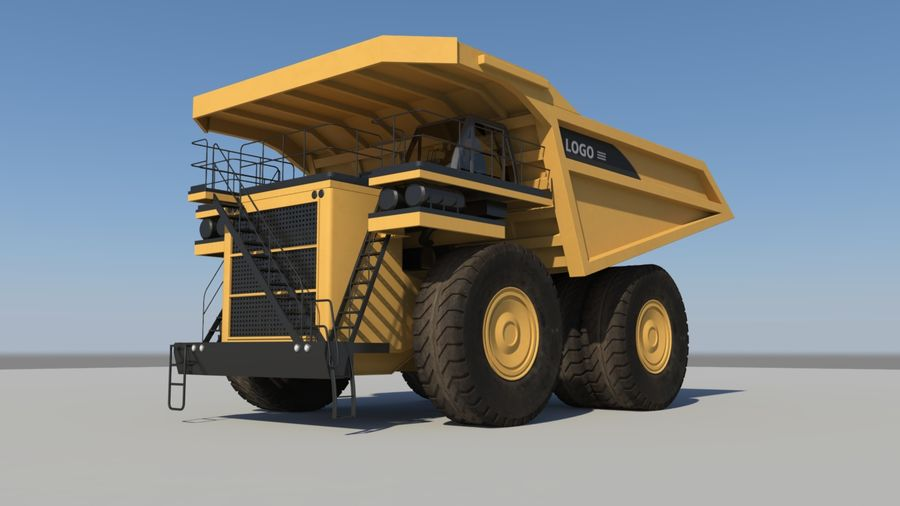 haul truck royalty-free 3d model - Preview no. 2