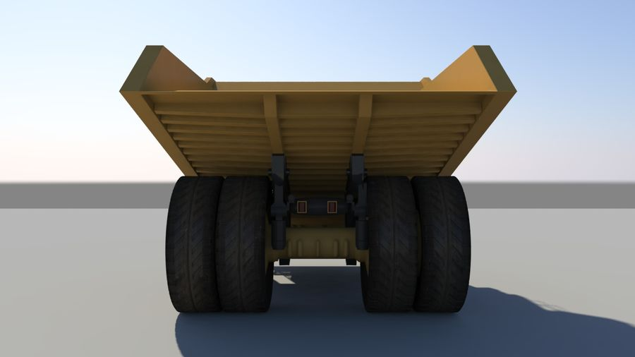 haul truck royalty-free 3d model - Preview no. 5