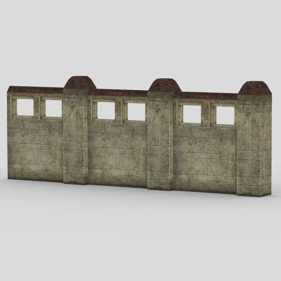 Wall Fence royalty-free 3d model - Preview no. 1