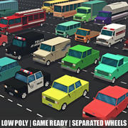 Low poly vehicles - car pack 3d model