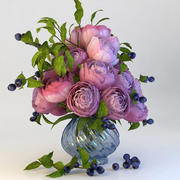 Bouquet of peonies 3d model