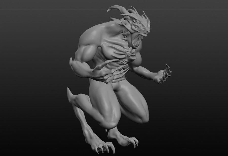 Jaskiniowy potwór royalty-free 3d model - Preview no. 3