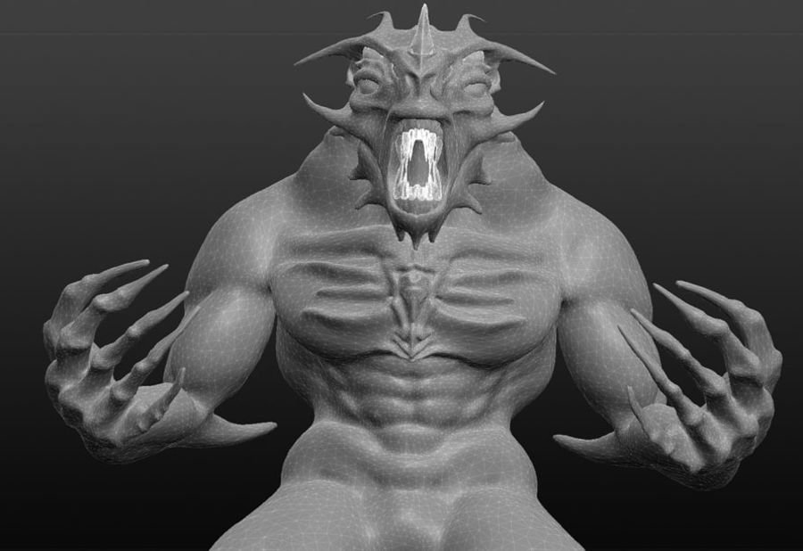 Jaskiniowy potwór royalty-free 3d model - Preview no. 4