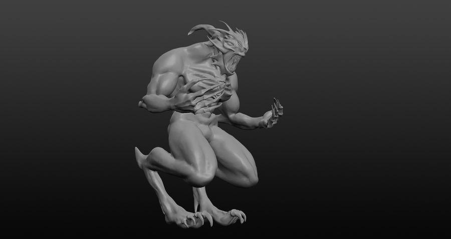 Jaskiniowy potwór royalty-free 3d model - Preview no. 6