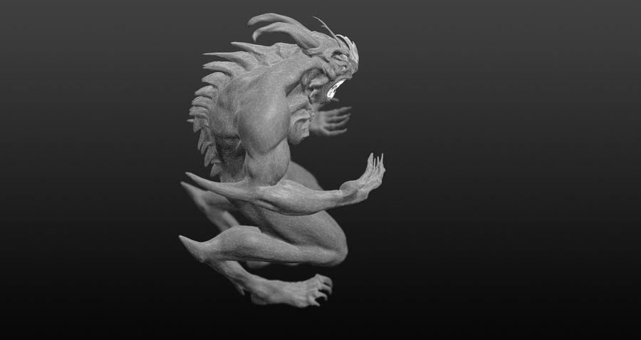 Jaskiniowy potwór royalty-free 3d model - Preview no. 5