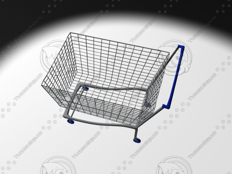 wózek z supermarketu royalty-free 3d model - Preview no. 4