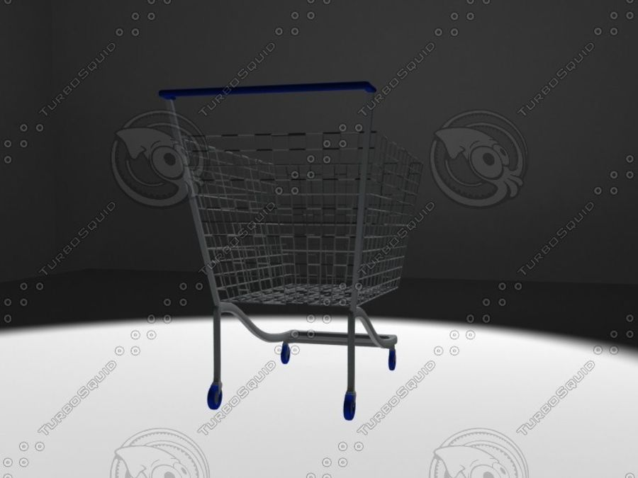 wózek z supermarketu royalty-free 3d model - Preview no. 3