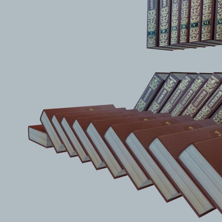 een set boeken van Tolstoj OORLOG EN VREDE royalty-free 3d model - Preview no. 16