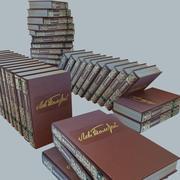 een set boeken van Tolstoj OORLOG EN VREDE 3d model