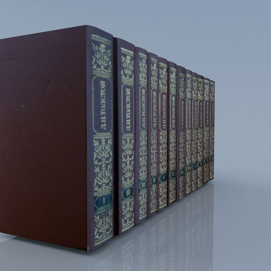 een set boeken van Tolstoj OORLOG EN VREDE royalty-free 3d model - Preview no. 14