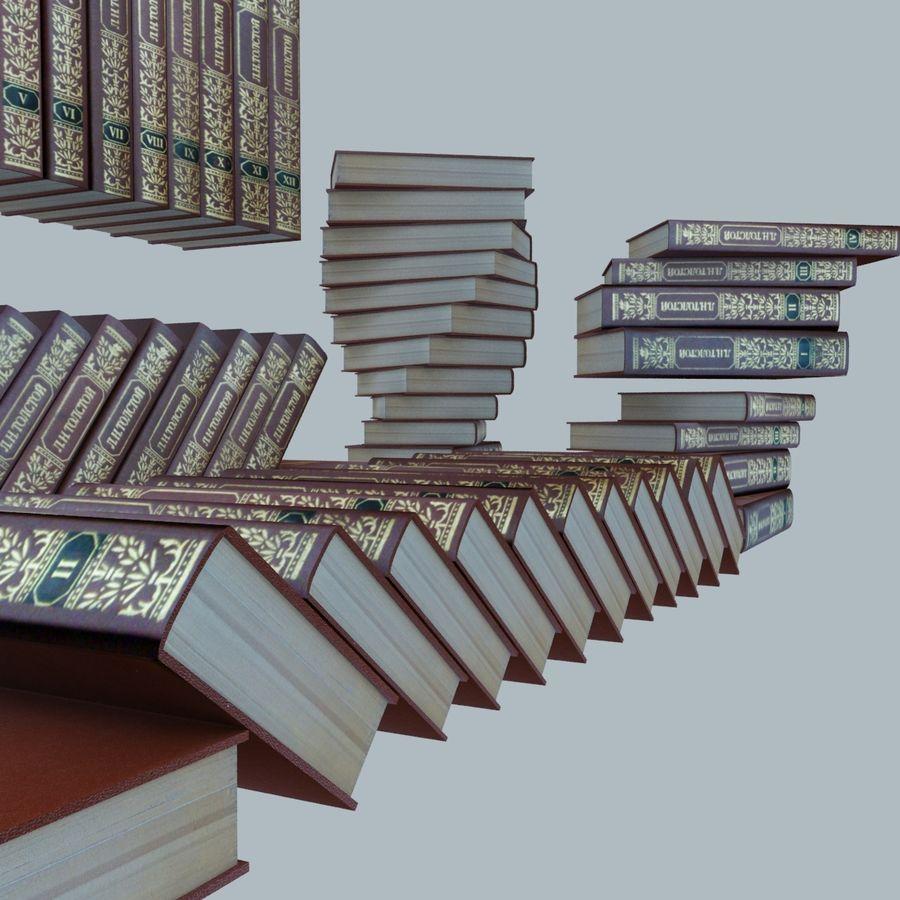 een set boeken van Tolstoj OORLOG EN VREDE royalty-free 3d model - Preview no. 4