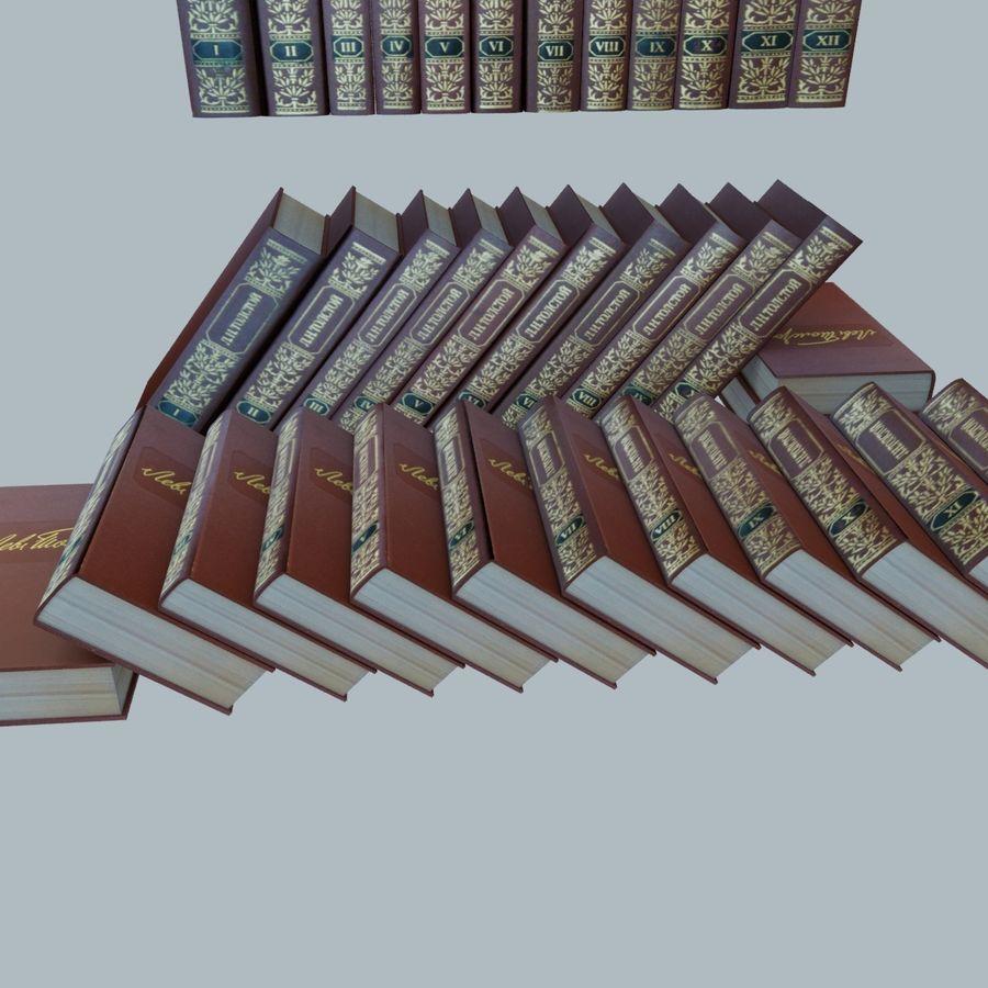 een set boeken van Tolstoj OORLOG EN VREDE royalty-free 3d model - Preview no. 10