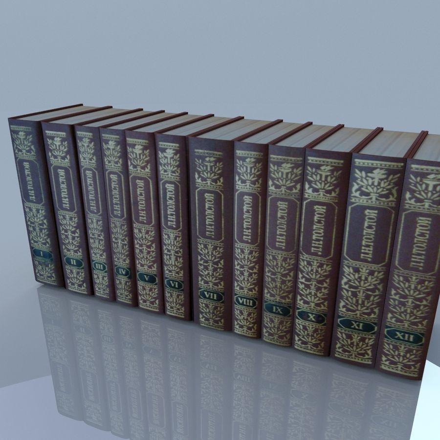 een set boeken van Tolstoj OORLOG EN VREDE royalty-free 3d model - Preview no. 13