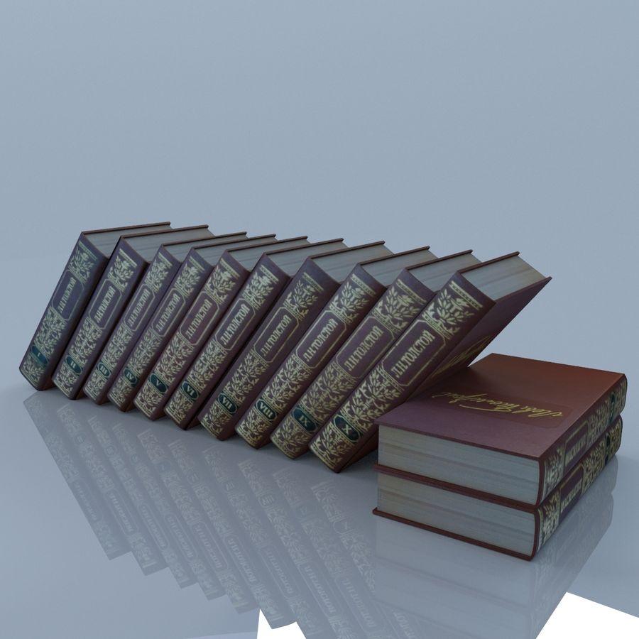 een set boeken van Tolstoj OORLOG EN VREDE royalty-free 3d model - Preview no. 6