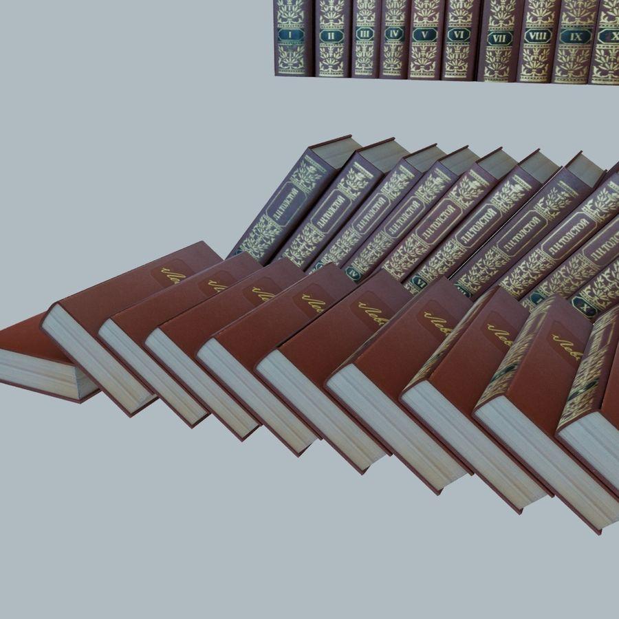 een set boeken van Tolstoj OORLOG EN VREDE royalty-free 3d model - Preview no. 12
