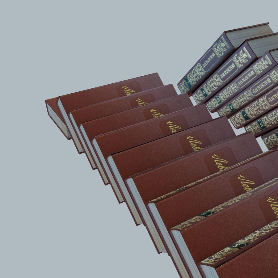 een set boeken van Tolstoj OORLOG EN VREDE royalty-free 3d model - Preview no. 8