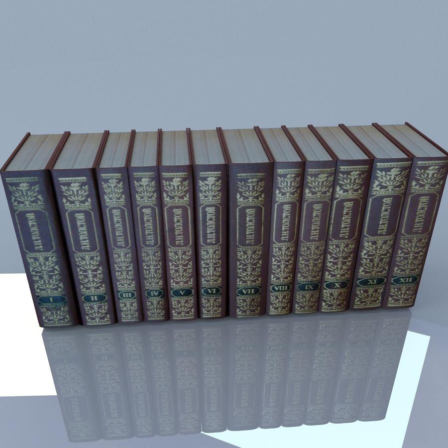 een set boeken van Tolstoj OORLOG EN VREDE royalty-free 3d model - Preview no. 11
