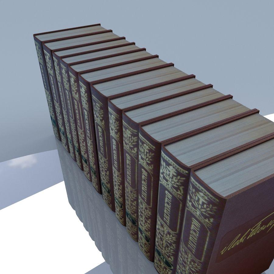 een set boeken van Tolstoj OORLOG EN VREDE royalty-free 3d model - Preview no. 9