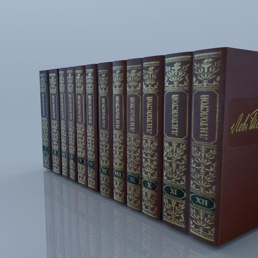 een set boeken van Tolstoj OORLOG EN VREDE royalty-free 3d model - Preview no. 17