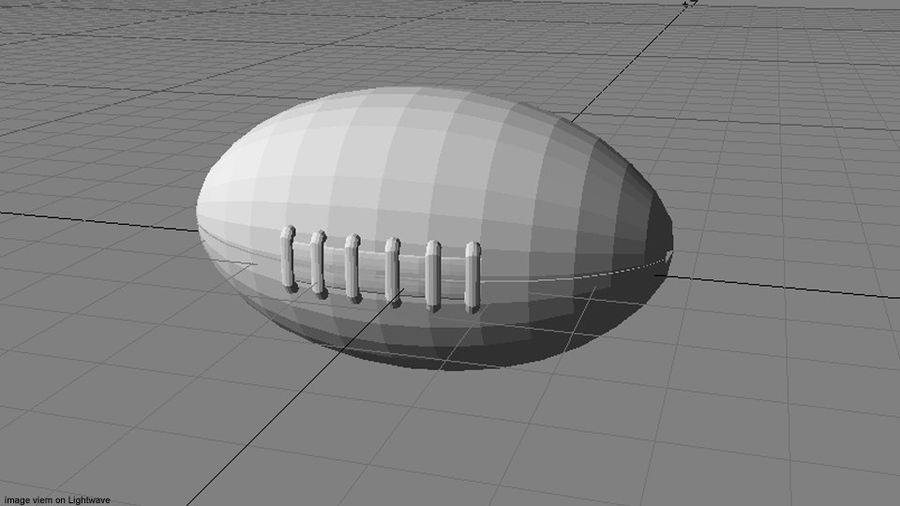 Sportboll - Rugby royalty-free 3d model - Preview no. 5