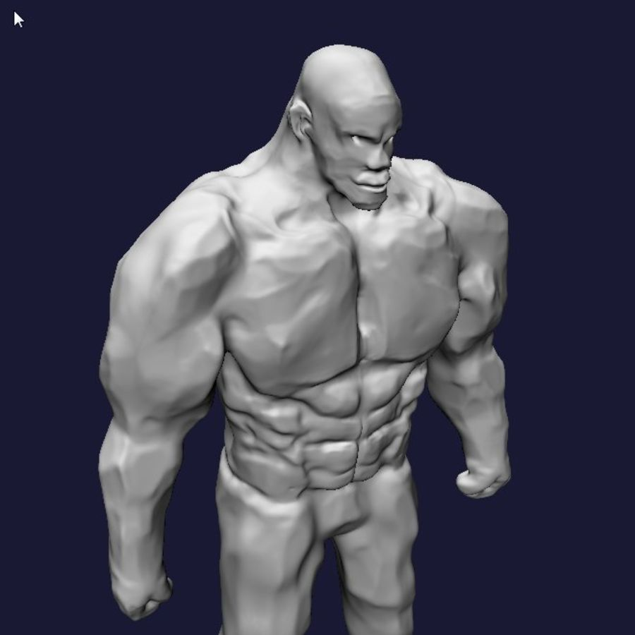 Strong man royalty-free 3d model - Preview no. 8