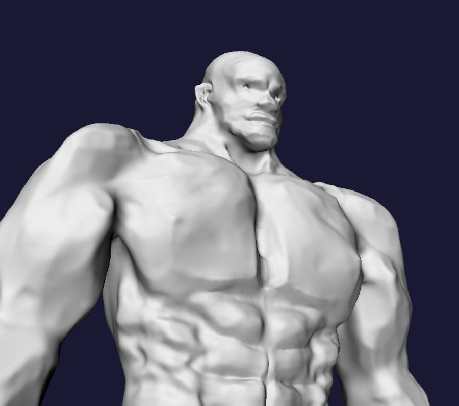Strong man royalty-free 3d model - Preview no. 9
