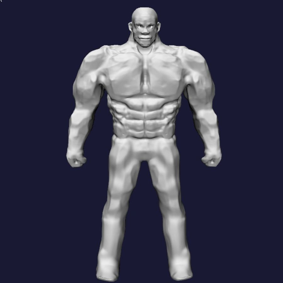 Strong man royalty-free 3d model - Preview no. 1