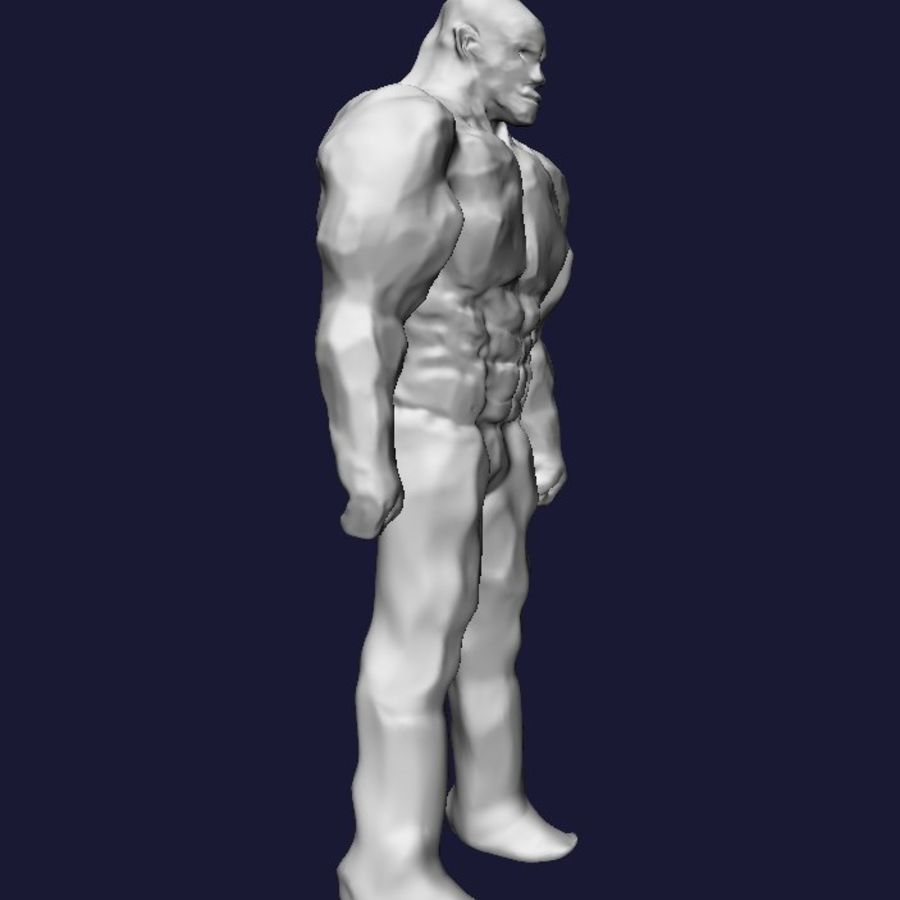 Strong man royalty-free 3d model - Preview no. 3