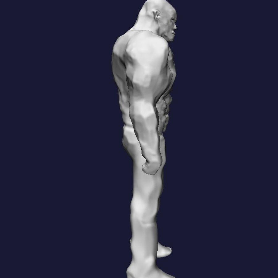 Homem forte royalty-free 3d model - Preview no. 4