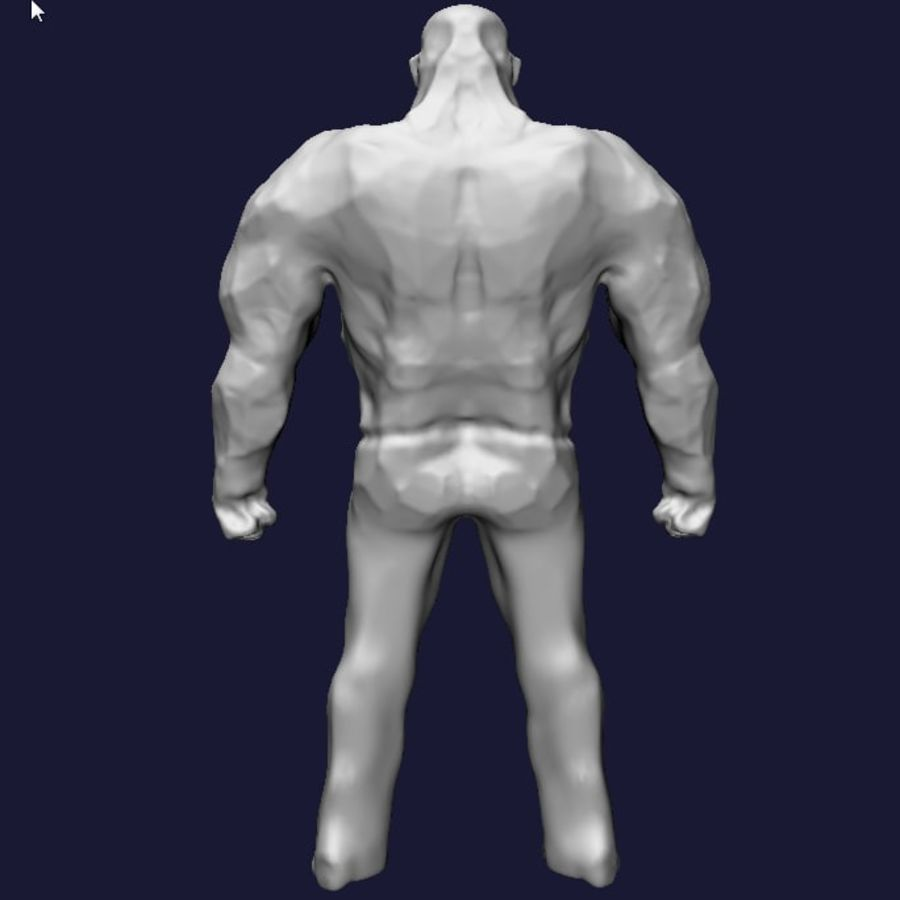 Strong man royalty-free 3d model - Preview no. 7