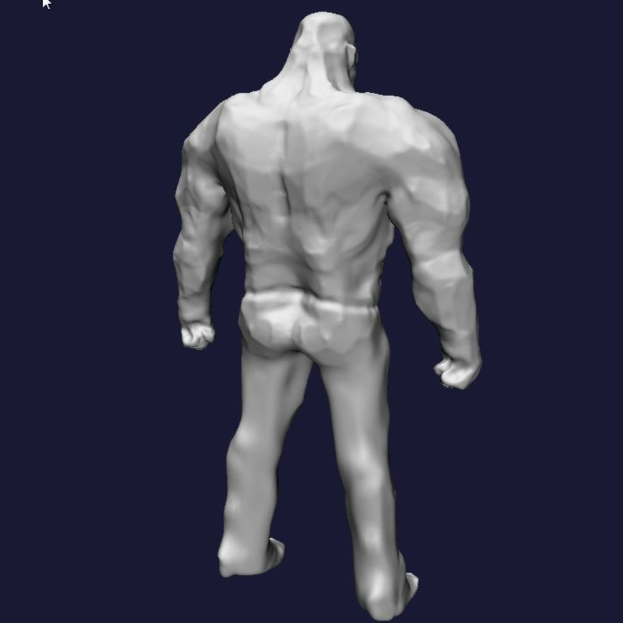 Strong man royalty-free 3d model - Preview no. 6