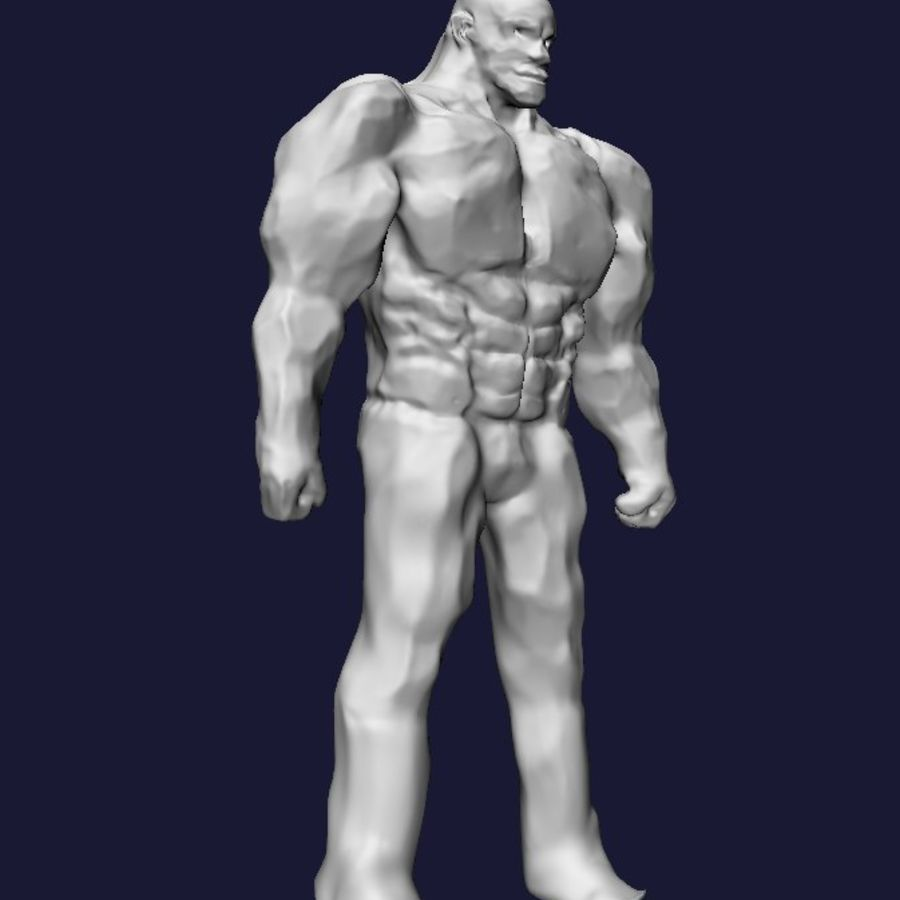 Strong man royalty-free 3d model - Preview no. 2
