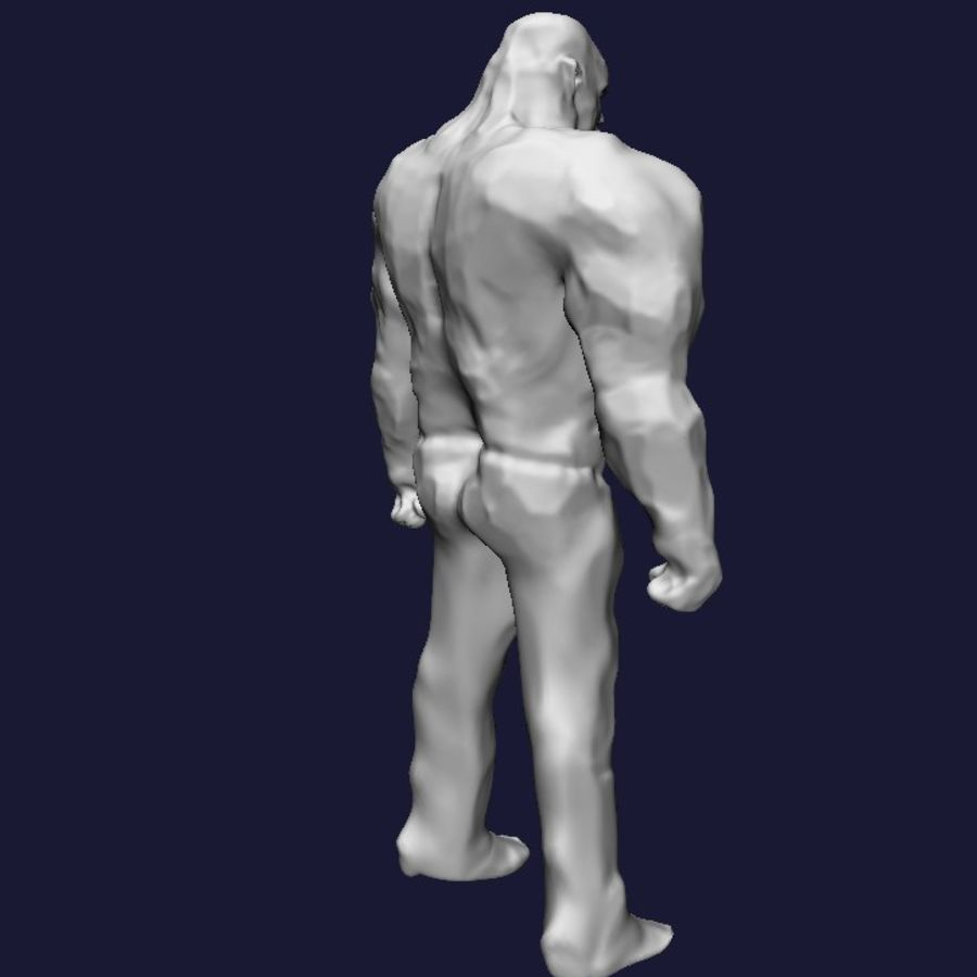 Strong man royalty-free 3d model - Preview no. 5