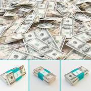 Dollar Banknoten 3d model