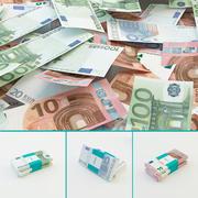 Euro banknotes 3d model