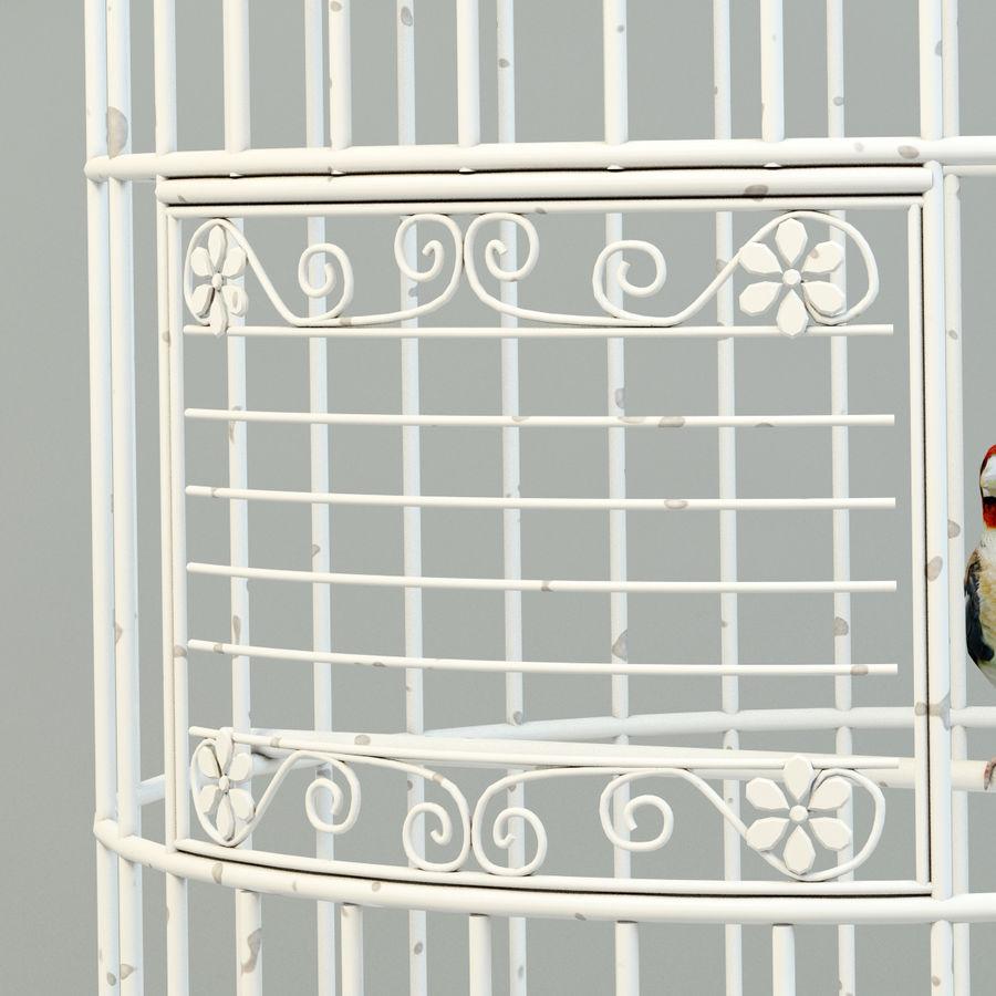 Клетка с птицами royalty-free 3d model - Preview no. 4