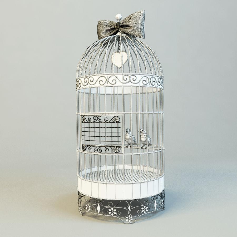 Клетка с птицами royalty-free 3d model - Preview no. 2