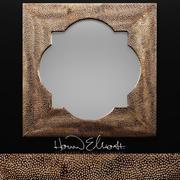 Howard Elliott Raymus Hammered Silver Mirror 3d model