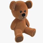 Pelliccia Toy Teddy Bear morbida 3d model