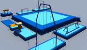gymnastic equipment collection 3d model