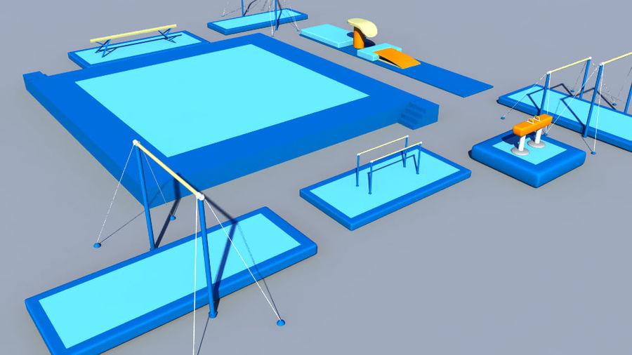 体操器材收藏 royalty-free 3d model - Preview no. 5